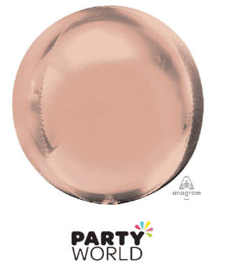 rose gold orbz balloon