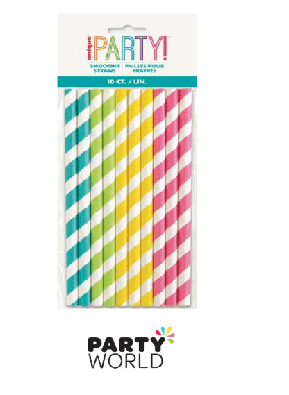smoothie straws coloured