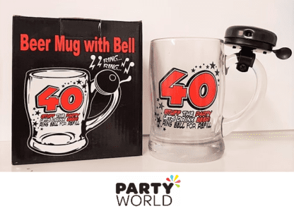 40th beer glass