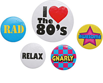 80s buttons