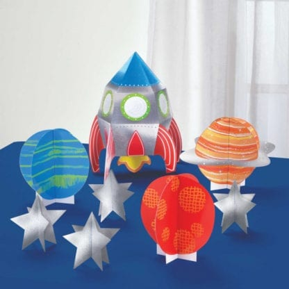 Space Blast Off Birthday 3D Table Decorating Kit