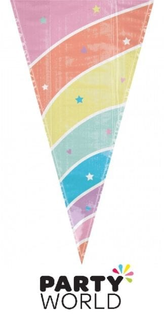 Magical Rainbow Birthday Unicorn Horn Shaped Loot Bags (15)