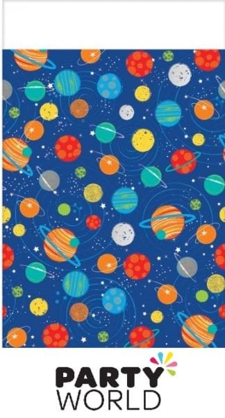 Space Blast Off Birthday Tablecover