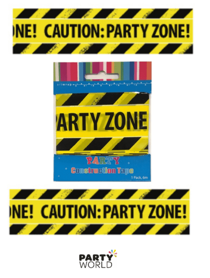 caution party zone tape
