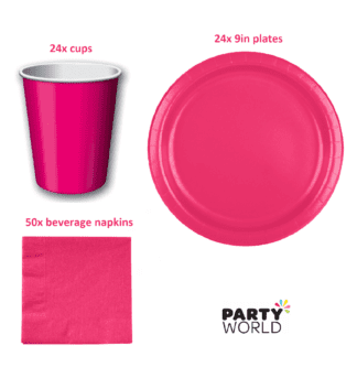 hot magenta tableware set