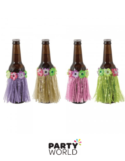 luau tropical skirt bottle covers