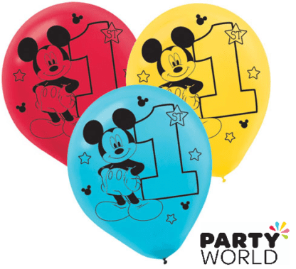 mickey first birthday balloons