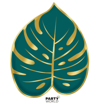 palm leave shaped paper plates