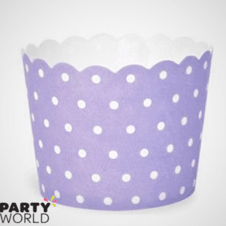 purple dots baking cups