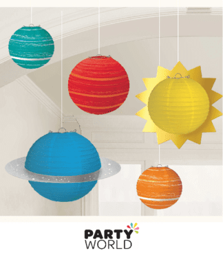 space themed paper lanterns
