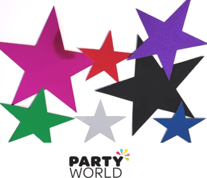 star cutouts multicoloured