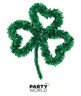 tinsel shamrock decoration