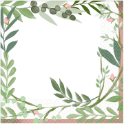 Olive Leaves & Rose Gold Theme