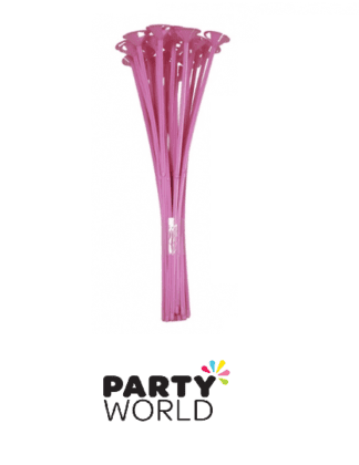 pink balloon sticks