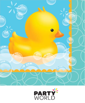 bubble bath duckie napkins