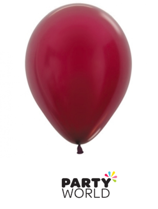 burgundy mini balloons