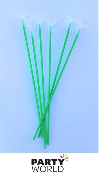 green balloon sticks