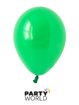green mini balloons