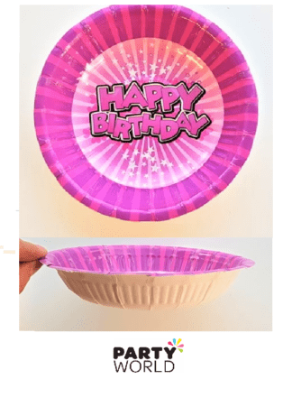 pink birthday bowl