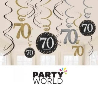 Contains: 6 x 45cm Foil Swirls, 3 x 60cm with 12cm Cardboard Cutouts & 3 x 60cm with 17cm Foil Numbers