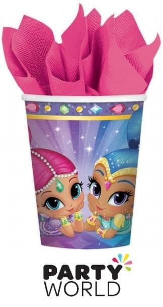 Shimmer and Shine Paper 266ml Party Cups (8)