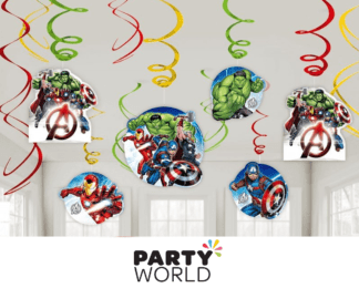 avengers swirl decorations