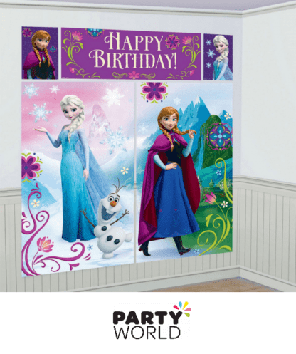 frozen wall decorating kit banner