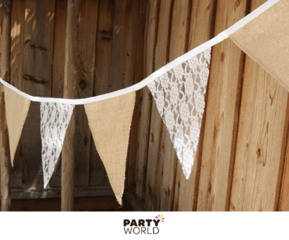 hessian lace bunting