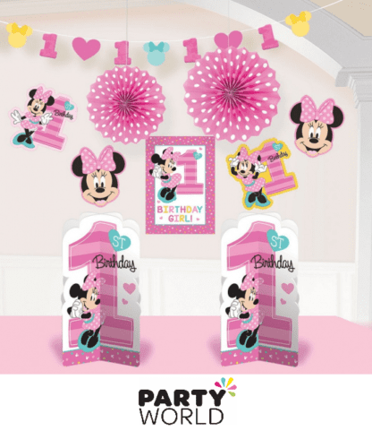 minnie mouse room decorating kit