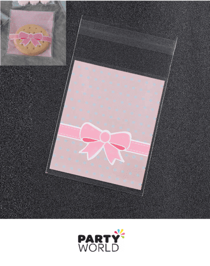 pink ribbon cello bags