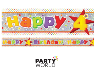 4th birthday banner