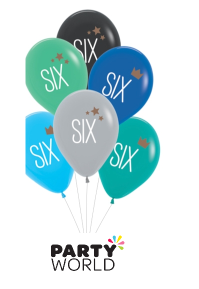 6th birthday balloons