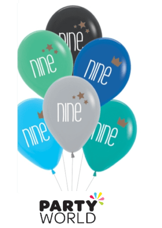 9th birthday balloons