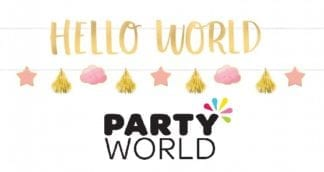Baby Girl Letter Banner Kit Hello World