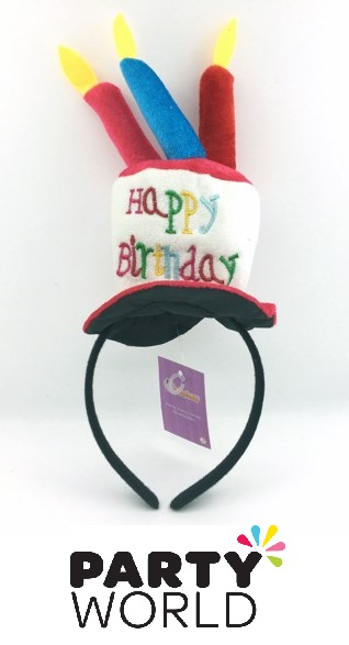 Birthday Cake With Candles Headband