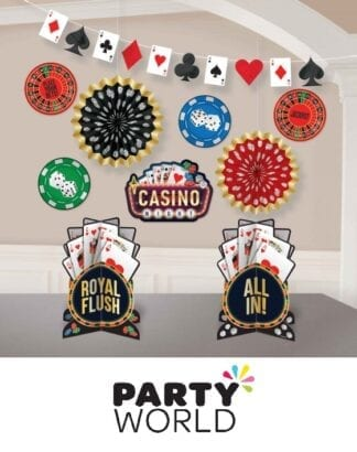 Casino Party Place Your Bets Room Decorating Kit