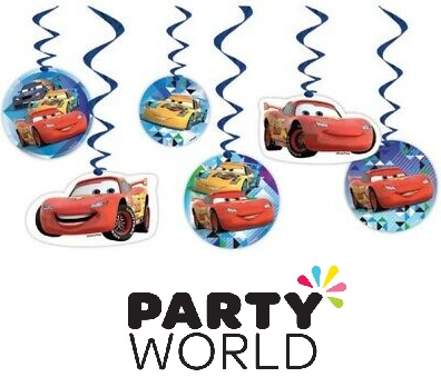Disney Cars Party Hanging Swirl Decorations (6)