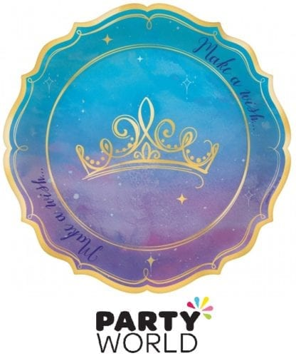 Disney Princess Metallic Shaped Plates (8)