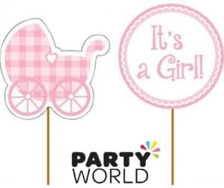 Its A Girl Cupcake Pick Toppers (12)