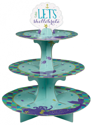 Mermaid Wishes Treat Cupcake Stand