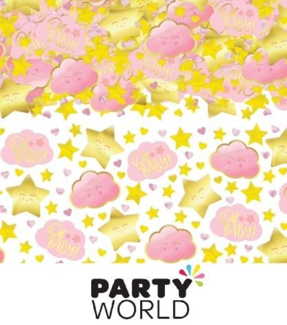 Oh Baby Girl Baby Shower Confetti