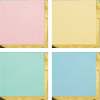 Pastel Celebrations Beverage Napkins Pastel & Gold Foil (16)