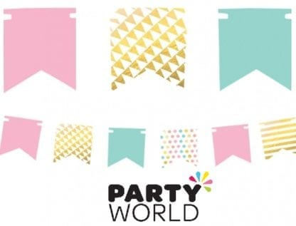 Pastel Mini Pennant Banner Foil Hot Stamped