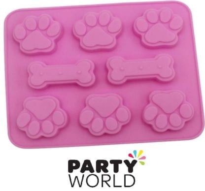 Paw Print And Bone Silicon Mould
