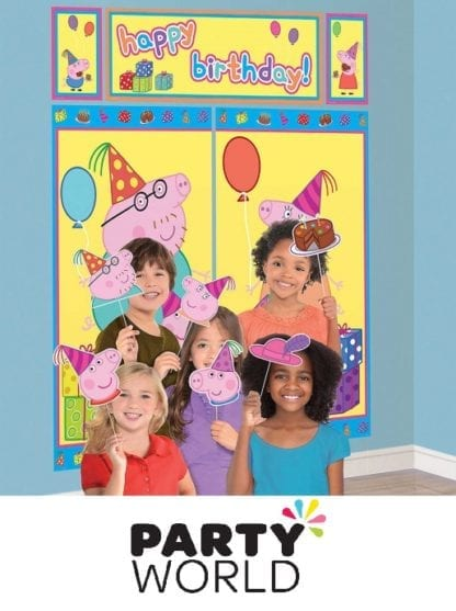 Peppa Pig Happy Birthday Scene Setter And Props