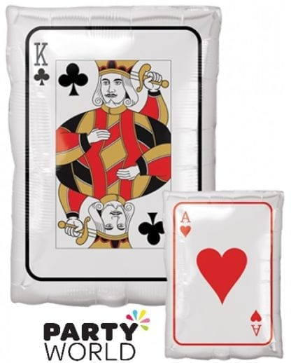 Roll the Dice King & Ace Playing Card Foil Balloon
