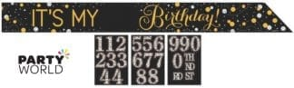 Sparkling Celebration Add Any Age Foil Sash