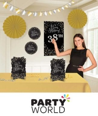 Sparkling Celebration Add Any Age Happy Birthday Room Decorating Kit