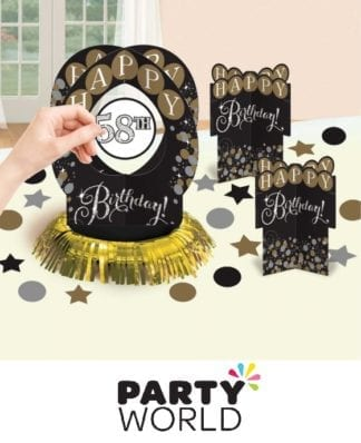Sparkling Celebration Add Any Age Table Decorating Kit