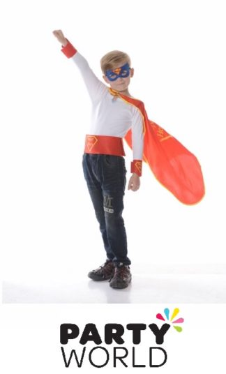 Super Hero Cape Kids Costume